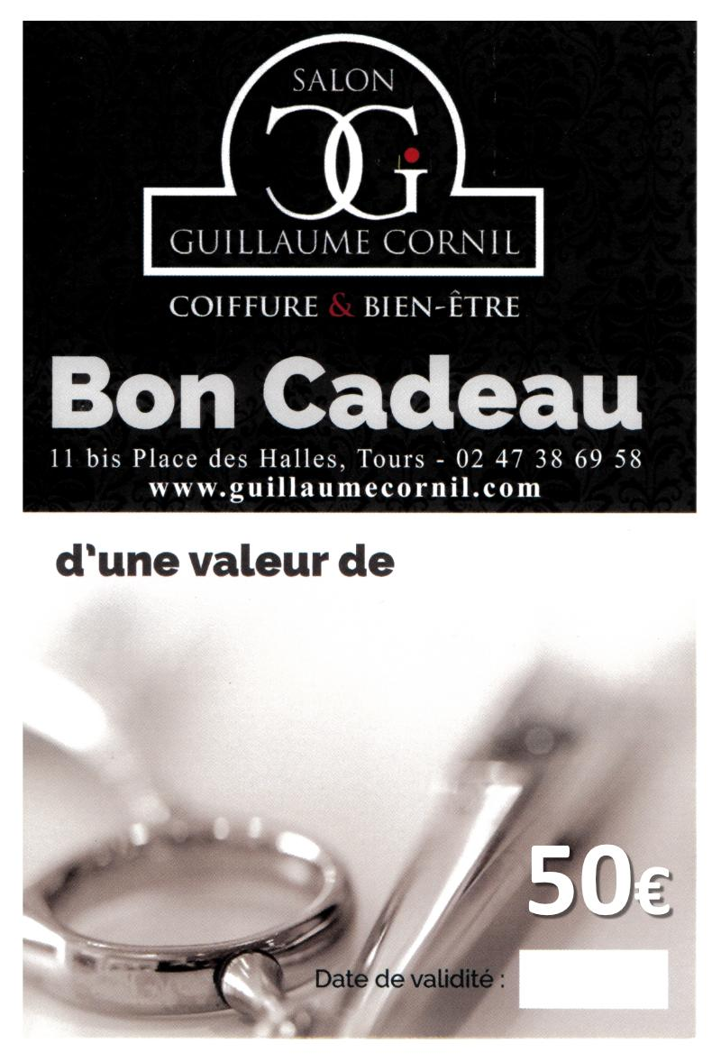 Salon de coiffure Guillaume Cornil - Bon cadeau d'une valeurde 50 €