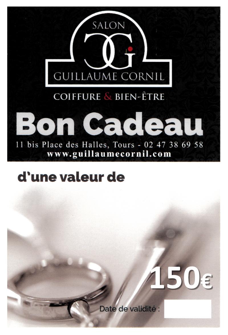 Salon de coiffure Guillaume Cornil - Bon cadeau d'une valeurde 150 €